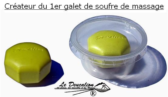 Chimie Naturelle- Galet de soufre - Marque Le Deucalion