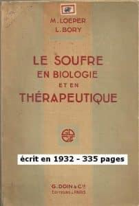 """Chimie Naturelle - Maurice Loeper - couverture Livre """"Le Soufre en Biologie et en thérapeutique"""" - 1932"""