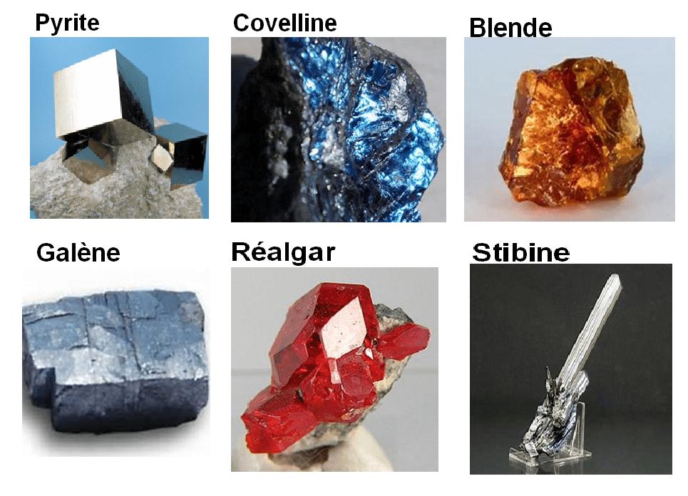 Chimie_naturelle - le soufre et les minéraux sulfures les plus connus