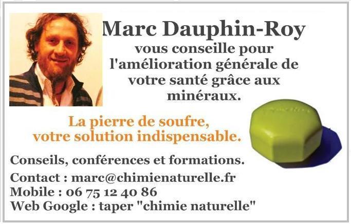Chimie Naturelle - Carte de visite Marc Dauphin-Roy