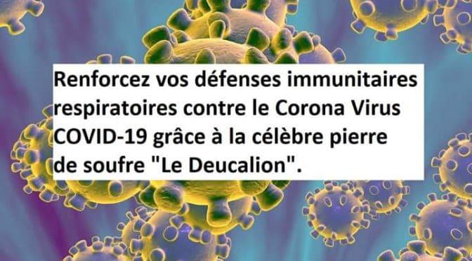 Le soufre contre le Coronavirus-Covid19.